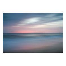 """""""The Colors of Evening on the Beach"""" Landscape Photo Unframed Wall Art Print, 24"""