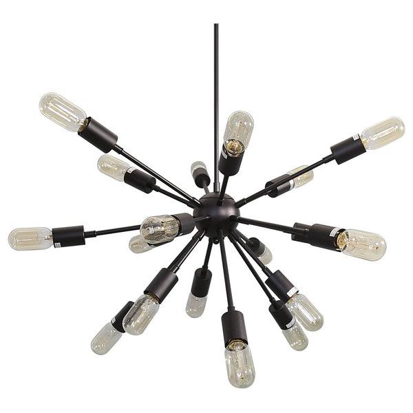 Metal Hanging Pendant Light Shade, Black