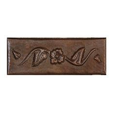 "Copper Crafted Tile Runner 6""x2"", Flower Design"