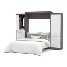 "Nebula 115"" Queen Wall bed kit, Bark Gray and White"