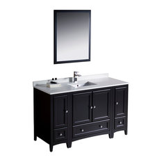 Fresca Oxford Vanity With 2 Side Cabinets, Espresso, 54x20.38x32.63