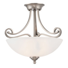 Thomas Lighting TC0015741 Haven Ceiling Lamp Satin Pewter 2X60W