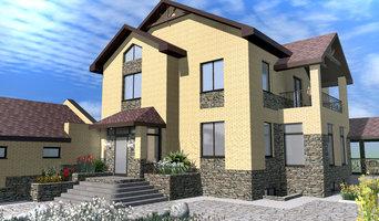 Двухэтажный жилой дом с террасами и балконами