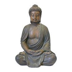 "Benzara Inc - 16"" Buddha Statue - Garden Statues and Yard Art"