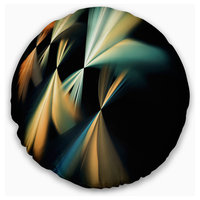 """Floating Abstract Fractal Designs Abstract Throw Pillow, 16"""" Round"""