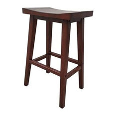 the urban port birch wood saddle bar stool bar stools and counter stools