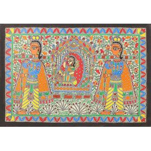 Novica the Bride, the Palanquin Madhubani Painting