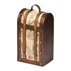 Chateau 2 Bottle Old World Wooden Wine Box by Twine