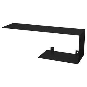 Top and Bottom Steel Wall Shelf Unit, Black