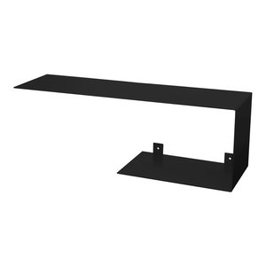 Top and Bottom Steel Wall Shelf Unit, Black