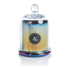 AG Rainbow Black Fig Vetiver Candle Jars with Glass Dome, Set of 2