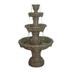 Medici Lion Four Tier Fountain