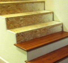 Do You Know What The Stairs Are Made Of Yet? They Could Be Particle Board  And Osb.