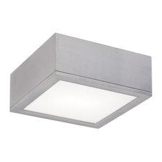 """WAC Lighting Rubix 10"""" Indoor or Outdoor LED Flush Mount, Brushed Aluminum"""