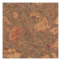 Adhered Floor Tiles Solid Cork Flooring, Bark