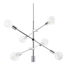 Marabella Chandelier With Bulb, Polished Chrome