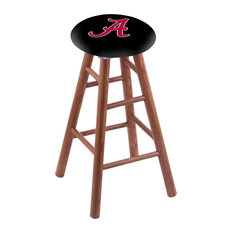 Oak Counter Stool Medium Finish With Alabama Seat 24-inch