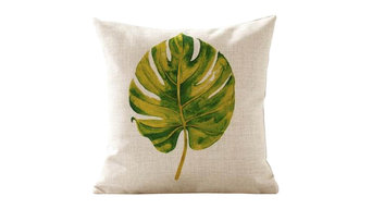 Watercolor Cushion Covers Pillow Covers Linen Cotton Leaf