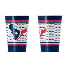 Duck House Sports - Houston Texans Disposable Paper Cups, Pack of 20 - Disposable Cups