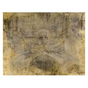Grottesca Mural, Ecru, Sandy Finish, 400x300 cm