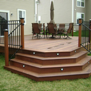 Angled Deck Stairs Houzz