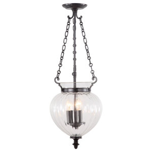 Finsbury Park Pendant Lamp, Old Bronze, Large