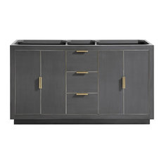 Avanity Austen 60-inch Vanity Only Twilight Gray With Gold Trim Twilight Gray With