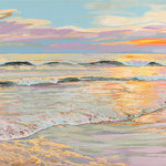 """Free Hand Studios Inc - Iridescent First Light, 60x40, Printed Version - Iridescent First Light is a 60""""X40"""" acrylic painting of the St Augustine Vilano beach Florida area."""