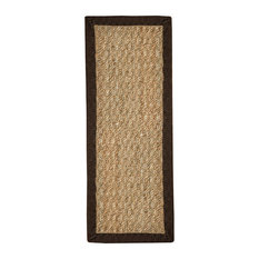 "Natural Area Rugs, Half Panama Stair Treads Carpet (9"" x 29 ""), Espresso, 9"" X 2"