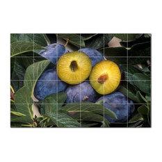 Fruits Vegetables Ceramic Tile Mural Kitchen Backsplash Bathroom Shower, 405229