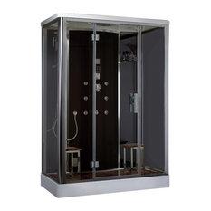 """Ariel Bath Platinum Steam Shower Sauna, 59""""x35.4"""""""