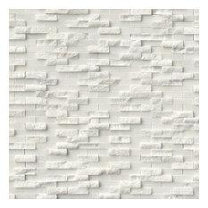 Split face Arabescato Carrara Marble Tile, Set of 10