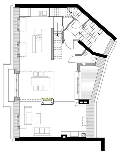 Minimalistisch Grundriss by Bachmann Badie Architekten
