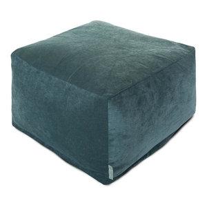 Charlie Beige Metallic Ottoman Contemporary Footstools