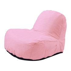 Cosmic Bean Bag Chair Lounger, Nylon Indoor/Outdoor Self Expanding, Blush