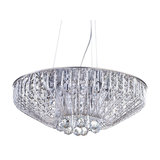 Visconte Brittany 6 Light Crystal Effect Ceiling Pendant, Chrome