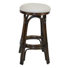 Carmen Indoor Swivel Rattan & Wicker 30-inch Barstool - York Jutes