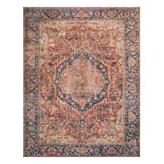 """Red Navy Printed Polyester Layla Area Rug by Loloi II, 7'-6""""x9'-6"""""""