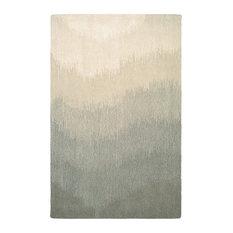 "Couristan, Inc. - Couristan Super Indo-Natural Neutral Ombre 2138/7822 Rug, Grey, 5'6""x8'0"" - Area Rugs"