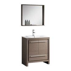 """29.5"""" Single Sink Bathroom Vanity, Gray Oak"""