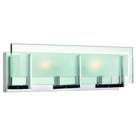 "Hinkley Latitude 2-Light Steel Vanity, 18""x5.75"""