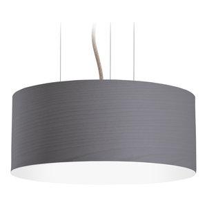 Large Veneli Pendant Light, Dark Grey Ash Veneer