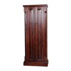 double door la roque mahogany cd and dvd cupboard