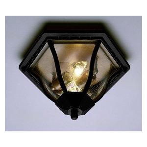 Black Copper Trans Globe Lighting 4906 BC Outdoor Angelus 6.5 Flushmount Lantern