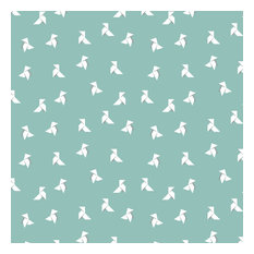 Origami Wallpaper Roll, Green, 48x1000 cm