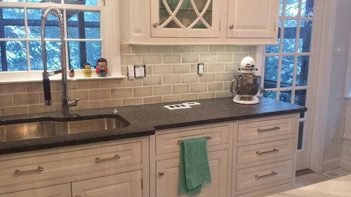 Crackle Tile Backsplash