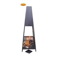 Copan 30cm Square Open Mesh Steel Fireplace By Gardeco