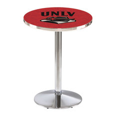 L214 - 36-inch Chrome UNLV Pub Table with 36-inch dia. top by Holland Bar Stool Co. by Holland Bar Stool Company