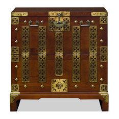 Elmwood Qing Dynasty Chest