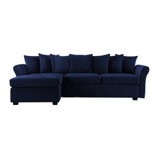 Sofa Mania   Modern Velvet Sectional Sofa, Large L Shape Couch With Extra  Wide